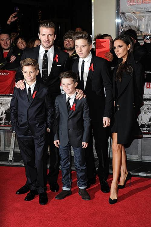 David and his family