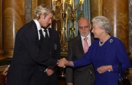 David and British Queen