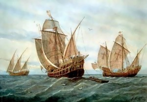 Pinta, Nina, Santa Maria – three ships which were used by Columbus in his first trip to the shores of America