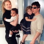 Tom, Nicole and their children