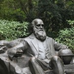 Monument to Darwin in the botanical garden of Guangzhou