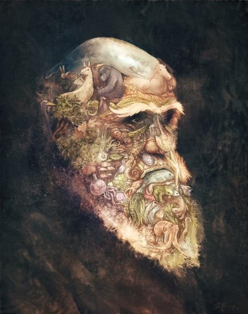 Portrait of Darwin by Deevad