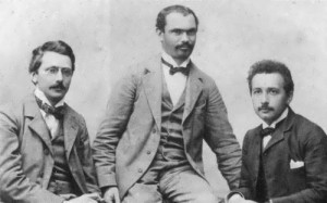 Einstein with friends, 1903