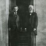 Einstein and Hendrik Antoon Lorentz in Leiden, 1921