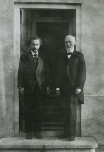 Einstein and Hendrik Antoon Lorentz in Leiden, 1921