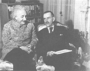Thomas Mann and Einstein at Princeton, 1938