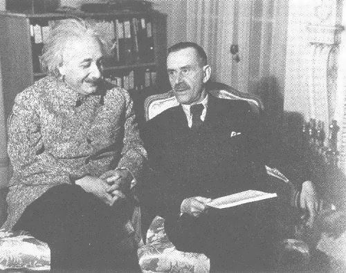 Thomas Mann and Einstein at Princeton, 1938