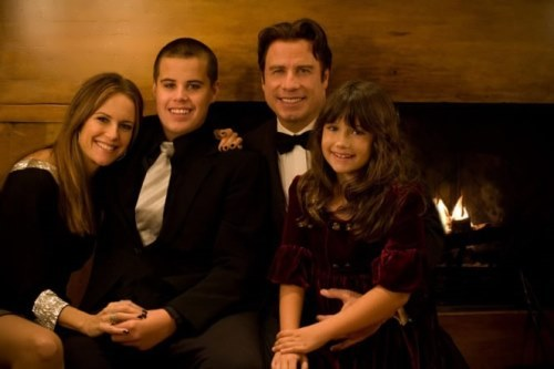 John, his wife Kelly, their daughter and son Jett