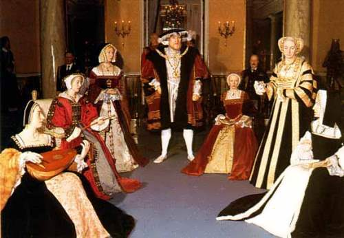 Henry VIII and his six wives. Madame Tussauds