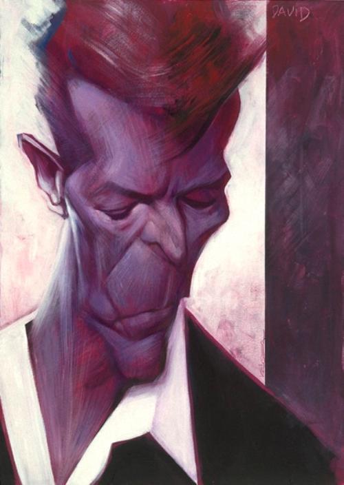Sebastian Krüger (German, born 1963) Portrait of David Bowie. 2015