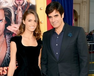 Chloe Gosselin and David Copperfield at the premiere of The Incredible