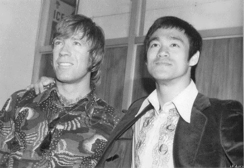 Lee and Chuck Norris