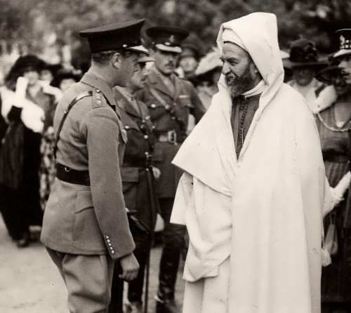 The Prince of Wales and Mauritanian leader in Gibraltar, 1921