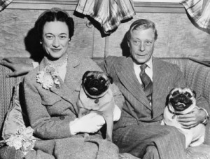 1954. The Duke and Duchess of Windsor, posing with their favorite dogs