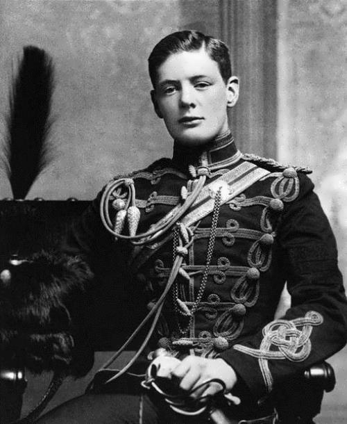 Churchill in the Cavalry School