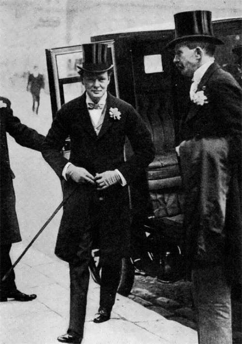 Churchill on the wedding day