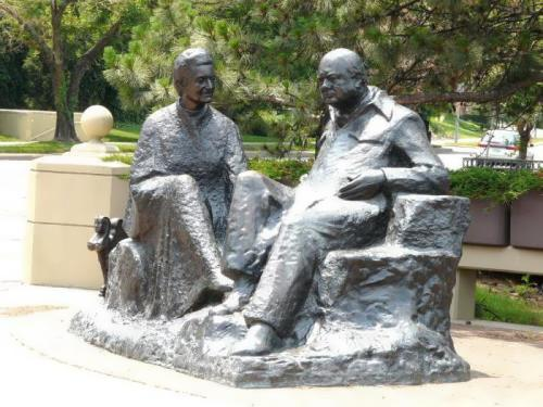 Monument to Churchill and Clementine