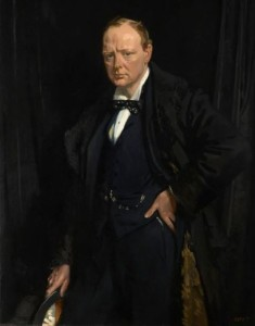 Painting of Winston Churchill by William Orpen, 1916