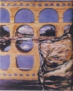 Pont du Gard (the highest-preserved Roman aqueduct, Gordon River, France)