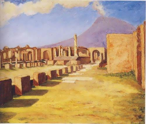 View of Vesuvius from Pompeii