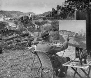 Churchill is painting
