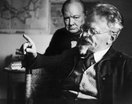 Churchill and Leon Trotsky