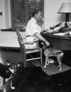 Fleming and his dogs