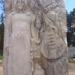 Monument to Lennon in Altai, Russia