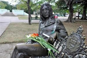Monument to Lennon in Havana