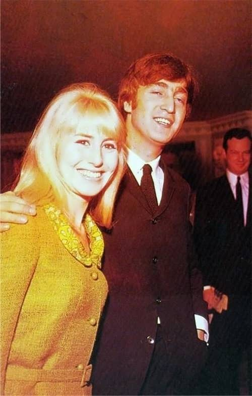 Lennon and his first wife Cynthia Powell