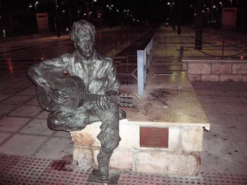 The monument to John Lennon in Almeria, Spain