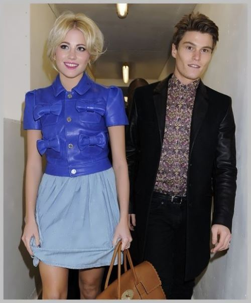 Pixie with her boyfriend Oliver Cheshire