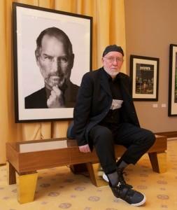 Photographer Albert Watson and portrait of Steve Jobs