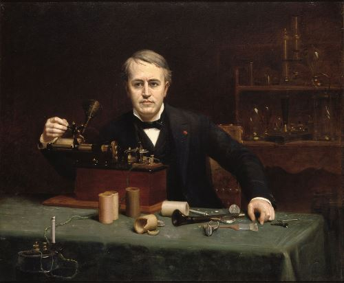 Abraham Archibald Anderson. Portrait of Thomas Edison