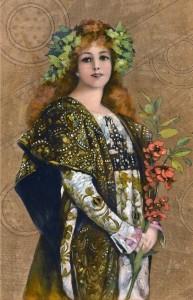 Sarah Bernhardt in Gismonda, by French School