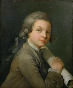 Louis Gabriel Blanchet. Portrait of Mozart aged 14, 1770