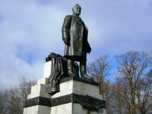 The Statue of Andrew Carnegie in his home town