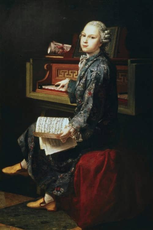 Joseph-Siffrede Duplessis. Mozart au clavecin, 1767