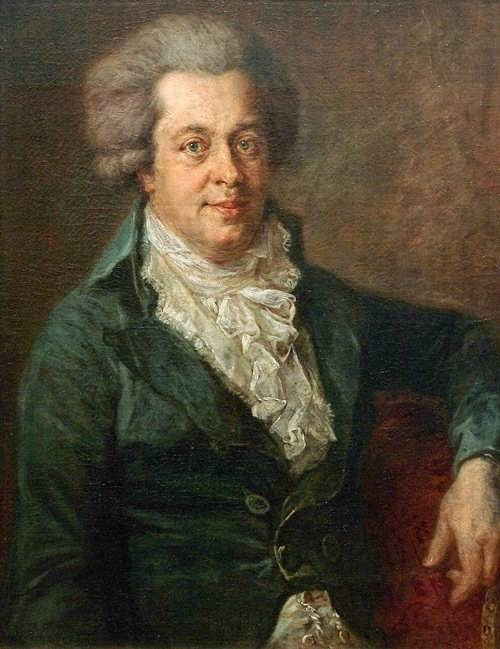 Johann Georg Edlinger. Perhaps the last lifetime portrait of Mozart, painted in 1790