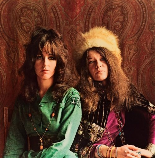 Grace Slick and Janis Joplin