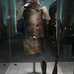 Homemade armor of Ned Kelly and his rifle