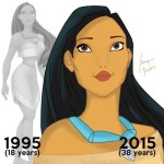 Ageing Pocahontas by artist Isaac Areas