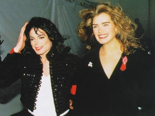 Jackson and Brooke Shields. They were together from 1983 to 1991