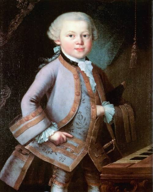 Pietro Antonio Lorenzoni. Mozart at the age of six in court dress, 1763