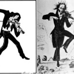 Caricatures on Paganini