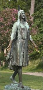 The statue of Pocahontas