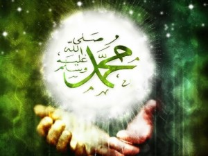 Islamic artists write his name in beautiful script