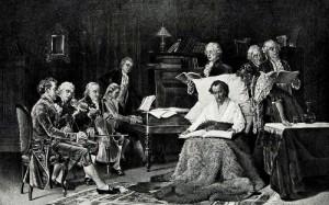 T. W. Schields. Mozart singing his requiem