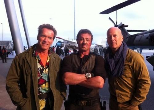 Schwarzenegger, Sylvester Stallone and Bruce Willis