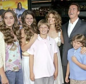 Schwarzenegger and his family